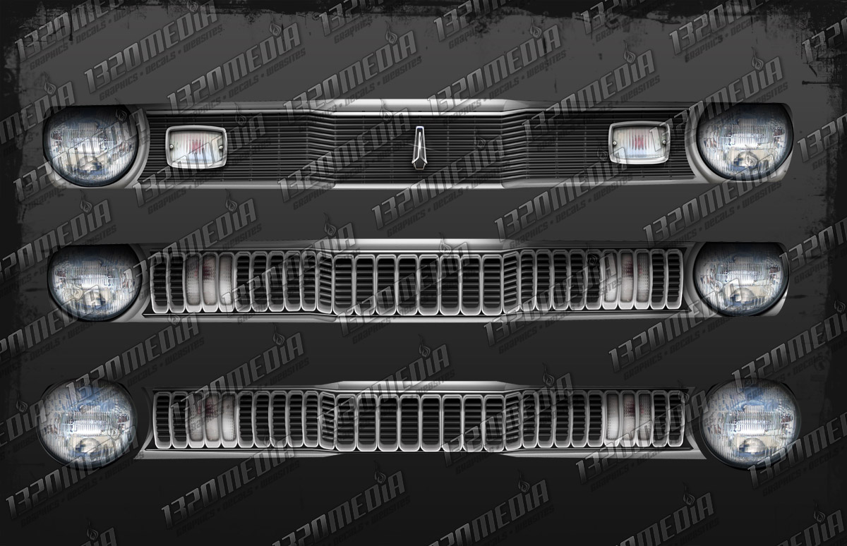 1970-72 Duster Grill