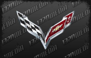 C7 Corvette V-Flag Emblem Decal
